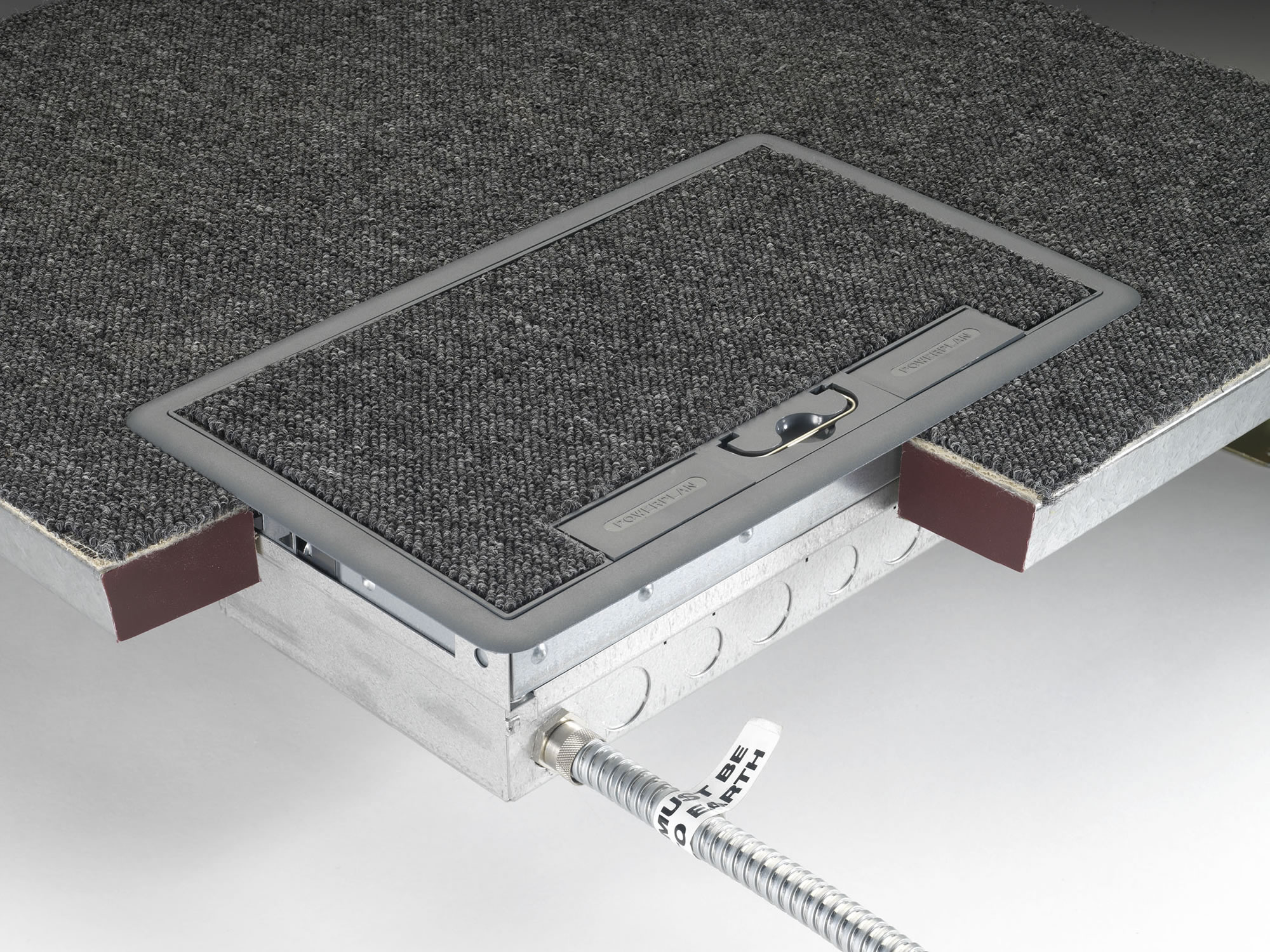 Floor Box In Situ with Conduit
