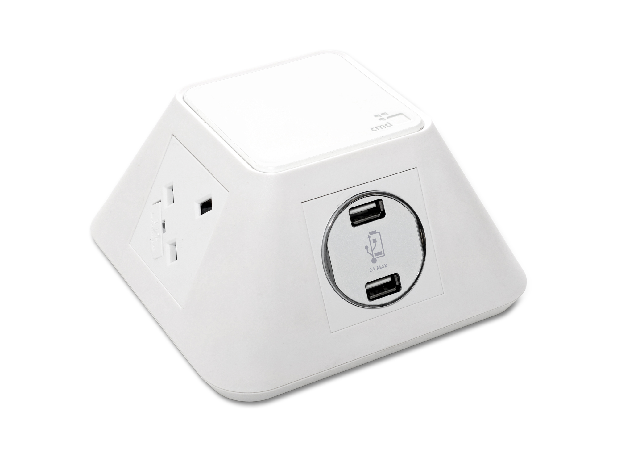 White-Inca-Power-Module-1-UK-Power-Socket-1-Twin-USB-Charger