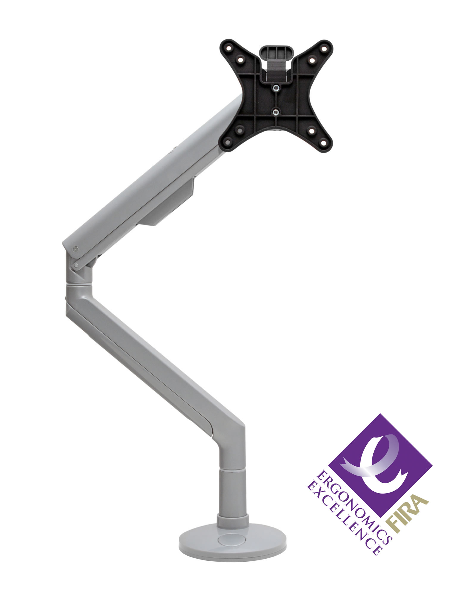 Reach Spring Assisted Monitor Arm - Silver