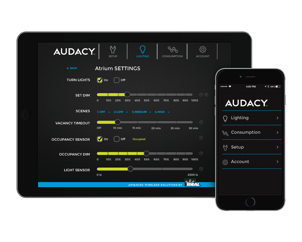 AUDACY USER INTERFACE AND DASHBOARD