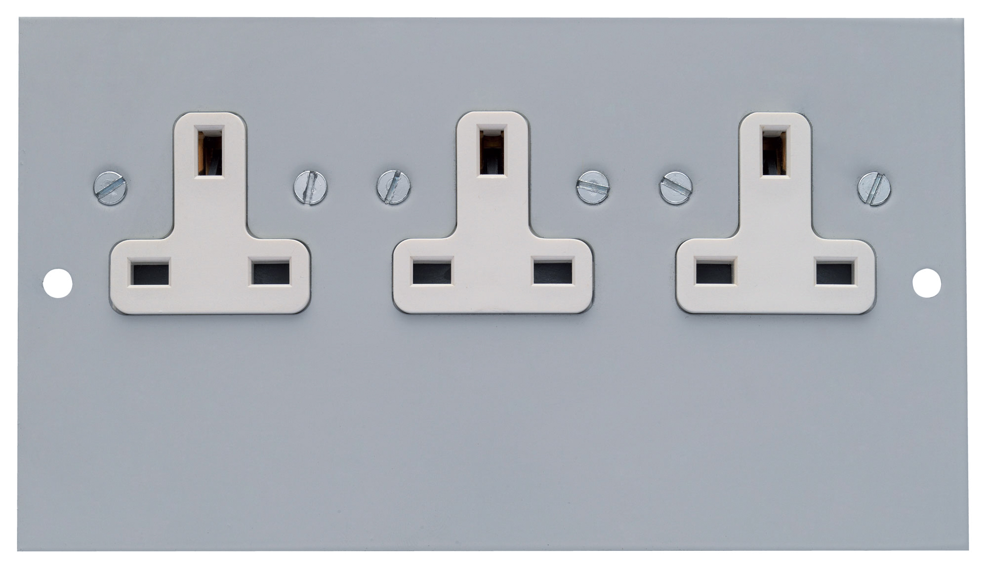 3 Single 13A Unswitched Socket