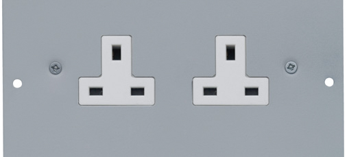 1 Twin 13A Unswitched Socket