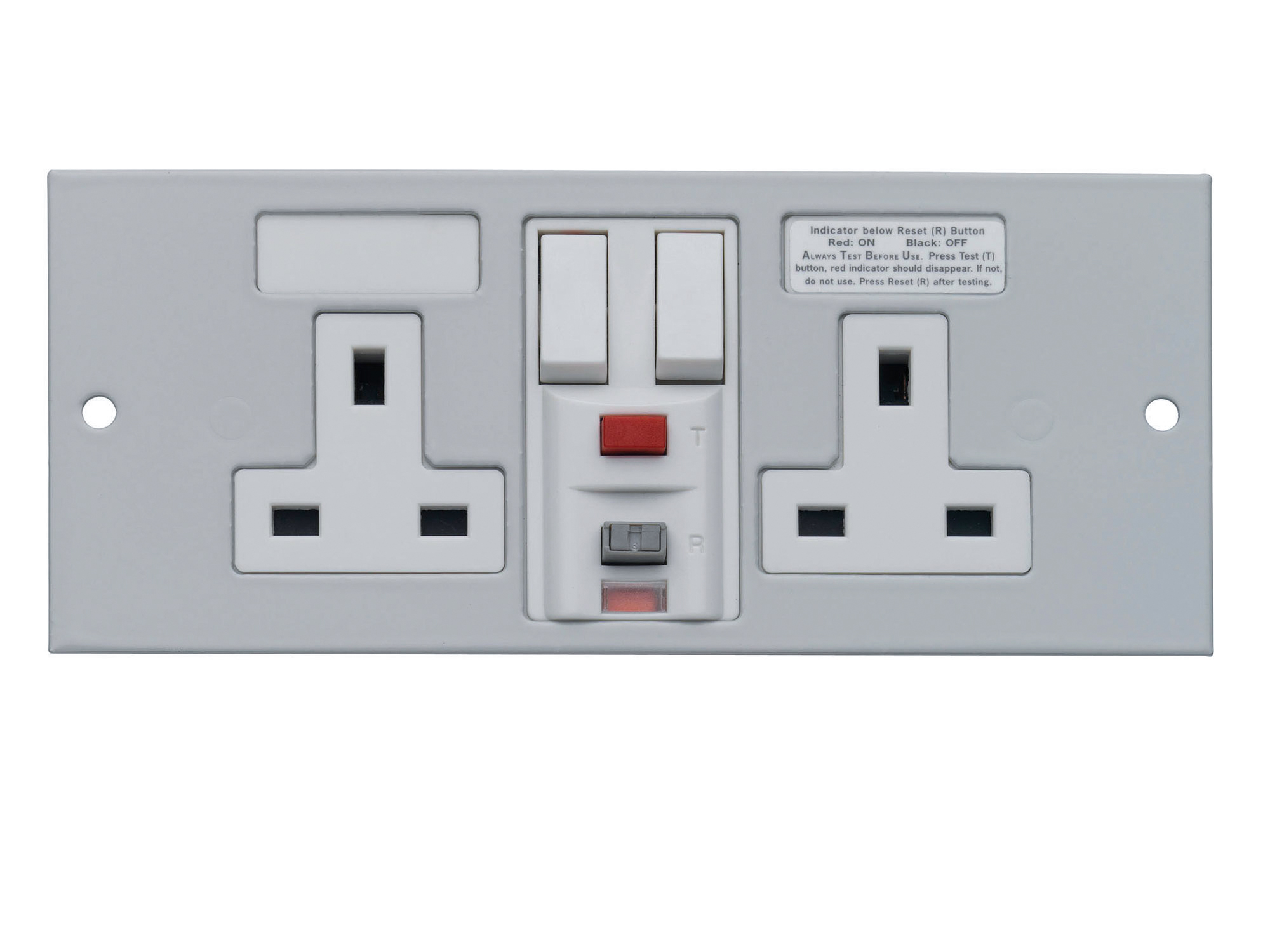 1 Twin RCD Socket