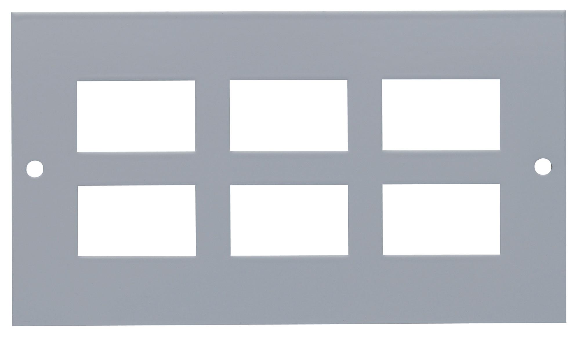 Plate Pierced to accept 6 x LJ6C/RJ45