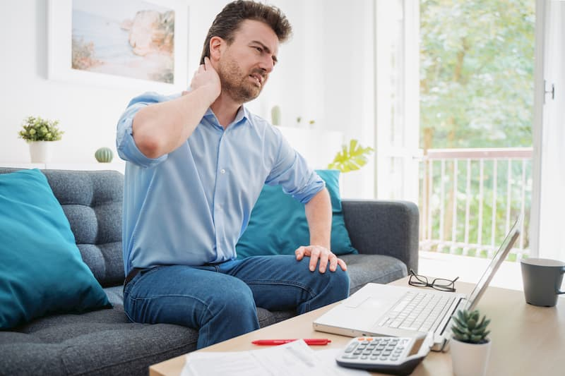 neck pain at home